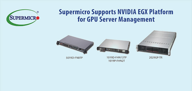 Supermicro Servers Support Breakthrough NVIDIA EGX Platform Delivering AI Processing and Management from the Data Center to the Edge